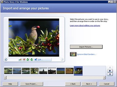 Microsoft Photo Story Ekran Görüntüleri - 3