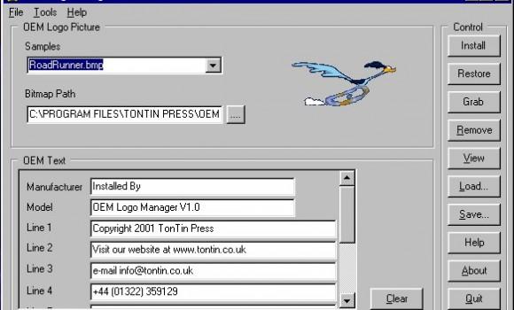 Oem Logo Manager v.1.0 Ekran Görüntüleri - 1