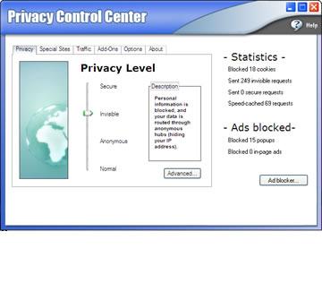 GhostSurf 2007 Platinum Ekran Görüntüleri - 1