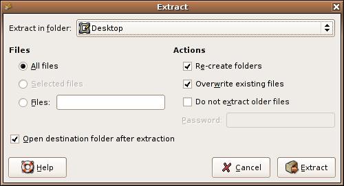 File Roller Ekran Görüntüleri - 2