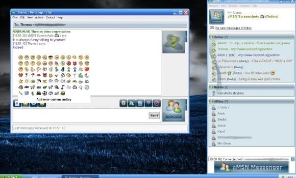 aMSN Ekran Görüntüleri - 3