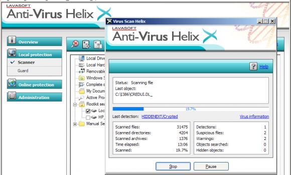 Lavasoft Anti-Virus Helix Ekran Görüntüleri - 1