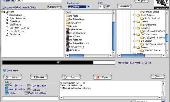 AmoK CD/DVD Burning Ekran Görüntüleri - 2