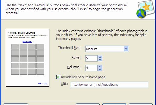 Web Album Generator v.1.8.2 Ekran Görüntüleri - 3