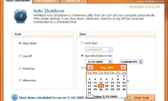 WinMend Auto Shutdown Ekran Görüntüleri - 1