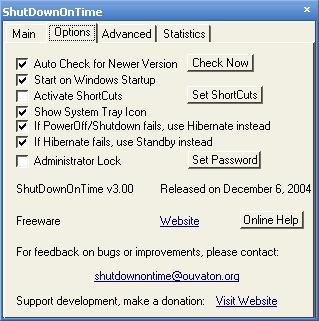 ShutDownOnTime v3.01 Ekran Görüntüleri - 1
