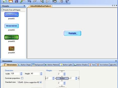 Likno Web Button Maker v2.0 Ekran Görüntüleri - 2