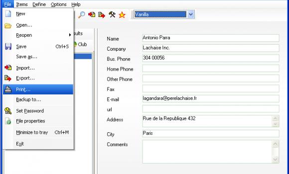 Custom Addressbook Ekran Görüntüleri - 1