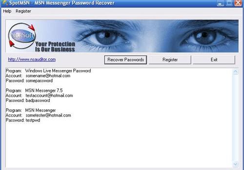 SpotMSN Password Recover Ekran Görüntüleri - 1