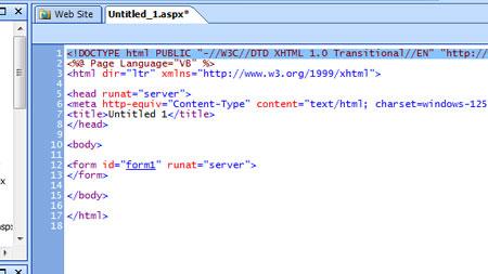 Microsoft Expression Web Designer Ekran Görüntüleri - 1