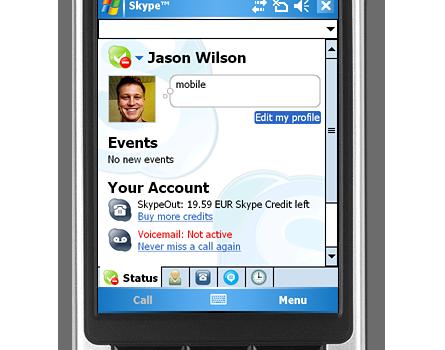 Skype 2.2 for Pocket PC Ekran Görüntüleri - 1