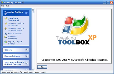 Tweaking Toolbox XP 2.1 Ekran Görüntüleri - 1