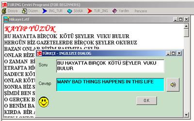Turing Çeviri Programı Ekran Görüntüleri - 1