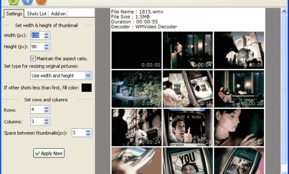 Video Snapshots Genius v2.0 Ekran Görüntüleri - 2