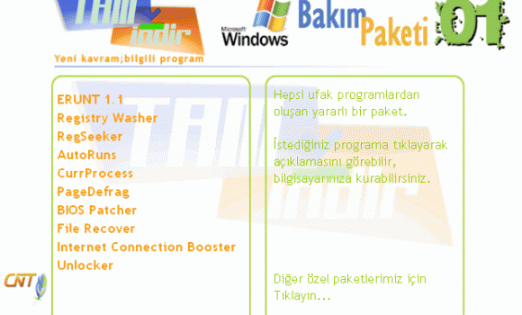 Windows Bakım Programları - Paket - 01 Ekran Görüntüleri - 1