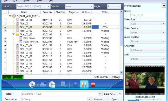 Xilisoft DVD to DivX Converter Ekran Görüntüleri - 1