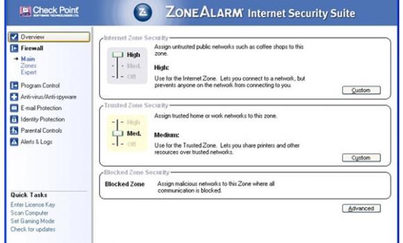 ZoneAlarm Internet Security Suite Ekran Görüntüleri - 1