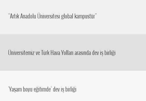 Anadolu Üniversitesi Ekran Görüntüleri - 3