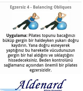 Pilates Egzersizleri Ekran Görüntüleri - 2