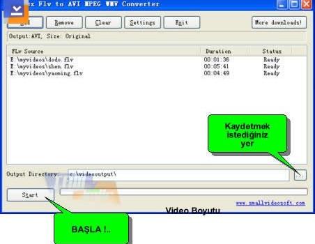 Freez Flv to AVI/MPEG/WMV Converter Ekran Görüntüleri - 1