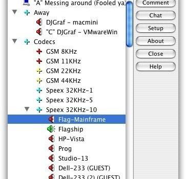 Ventrilo Client Ekran Görüntüleri - 1