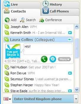 Skype (Linux) Ekran Görüntüleri - 1