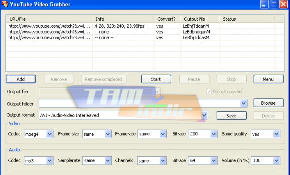 YouTube Video Grabber v1.0 Ekran Görüntüleri - 1