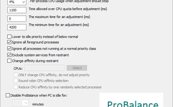 CPUBalance Ekran Görüntüleri - 1
