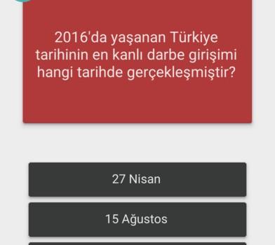 Demokrasi Günü Bilgi Yarışması Ekran Görüntüleri - 3