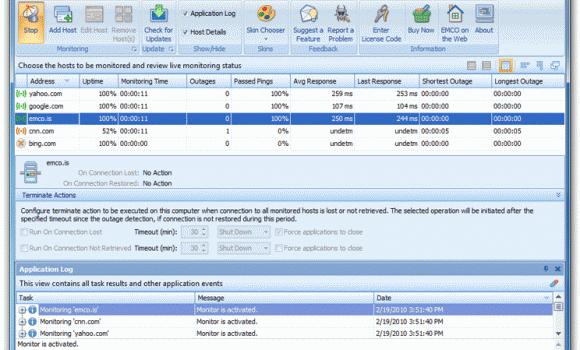 EMCO Ping Monitor Ekran Görüntüleri - 1