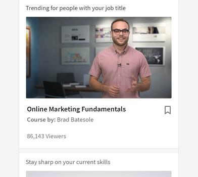 LinkedIn Learning Ekran Görüntüleri - 5