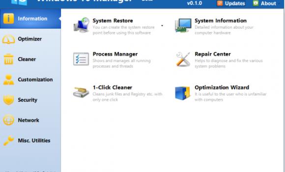 Windows 10 Manager Ekran Görüntüleri - 4