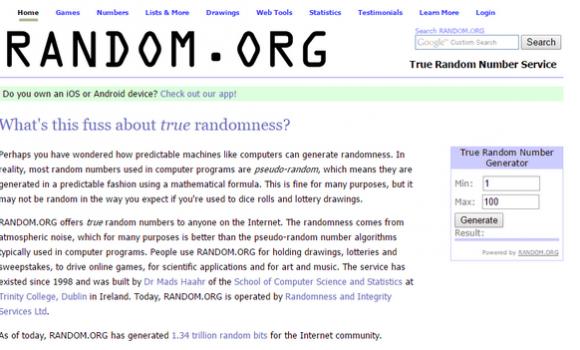 Random.org Ekran Görüntüleri - 3