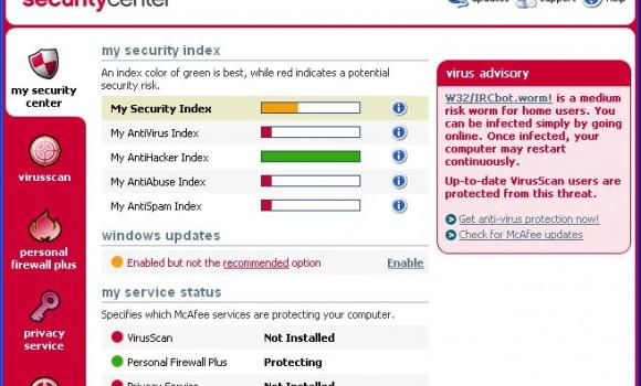 McAfee VirusScan Enterprise Ekran Görüntüleri - 1