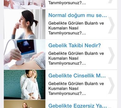 Hamilelik Rehberi Ekran Görüntüleri - 2