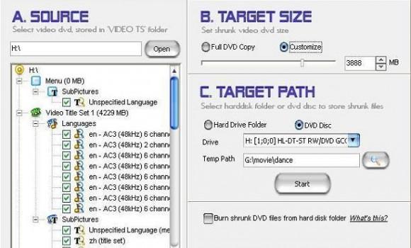 Amazon DVD Shrinker V2.6.2 Ekran Görüntüleri - 1