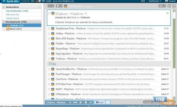 Bloglines Ekran Görüntüleri - 4