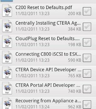 CTERA Mobile Ekran Görüntüleri - 1