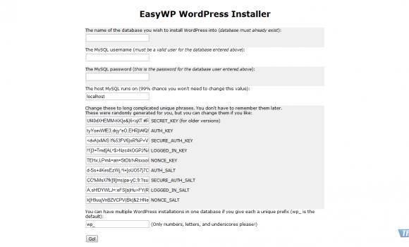 EasyWP WordPress Installer Ekran Görüntüleri - 1