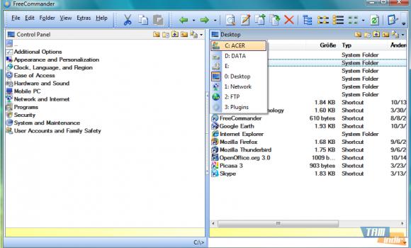 FreeCommander XE Ekran Görüntüleri - 1