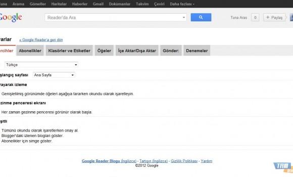 Google Reader Ekran Görüntüleri - 3