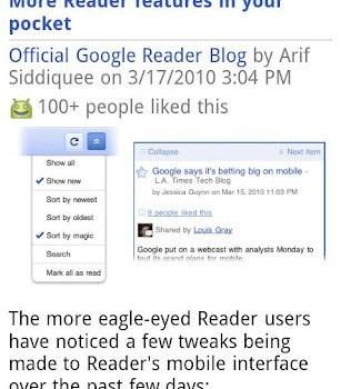 Google Reader Ekran Görüntüleri - 1