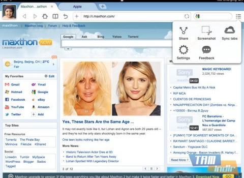 Maxthon Web Browser Ekran Görüntüleri - 1