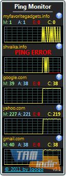 Ping Monitor Ekran Görüntüleri - 1