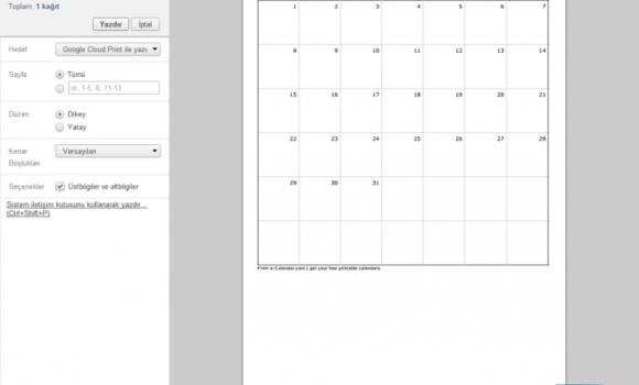 Print a Calendar Ekran Görüntüleri - 2