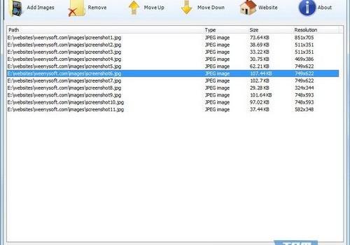 Weeny Free Image to PDF Converter Ekran Görüntüleri - 1