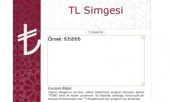 TL Simgesi Kurma Programı Ekran Görüntüleri - 1