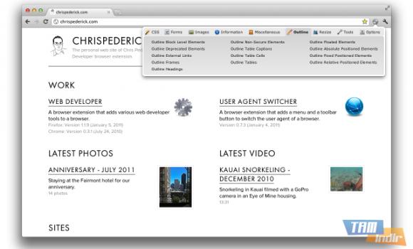 Web Developer Ekran Görüntüleri - 1