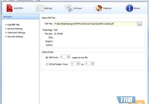 Weeny Free PDF Cutter Ekran Görüntüleri - 1