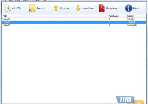 Weeny Free PDF Merger Ekran Görüntüleri - 1